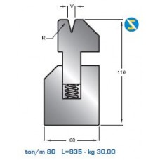 Matriz com mola S1050 HR 30º  V8