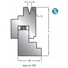 Matriz com mola 10463 HR 30º  V6-8-10