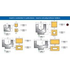 Inserto em poliuretano e matriz Mod.2500-75 e 2500-100