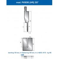 Matriz e Punção  Mod. PV906 (HR) 30º