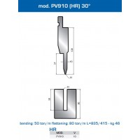Matriz e Punção  Mod. PV910 (HR) 30º