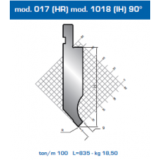 Punção Mod. 017 (HR) 90º- Mod. 1018 (IH) 90º