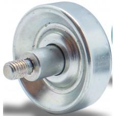 Rolete de metal D=48, cubo perno roscado M8 d=6,2 esf aço, carga 20 Kg