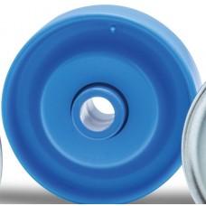 Rolete de plástico D=48,  cubo d=6,2 esf aço, carga 10 Kg